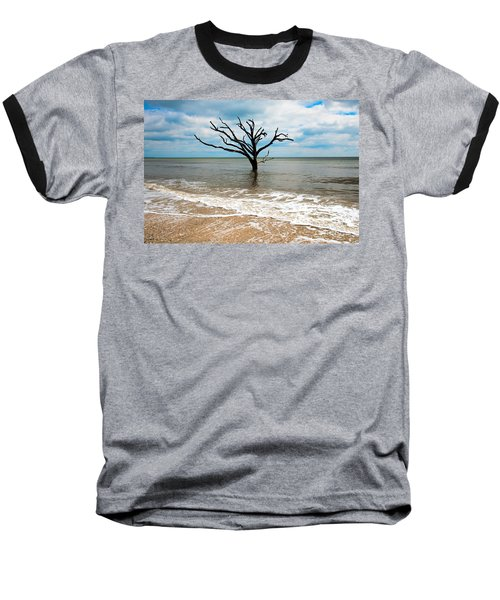 Edisto Island Tree Baseball T-Shirt by Robert Loe