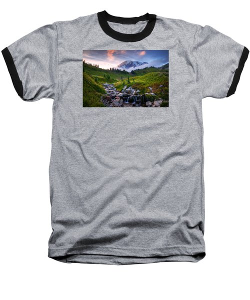 Baseball T-Shirt featuring the photograph Edith Creek Sunset by Dan Mihai