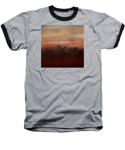 Edmonton At Sunset Baseball T-Shirt