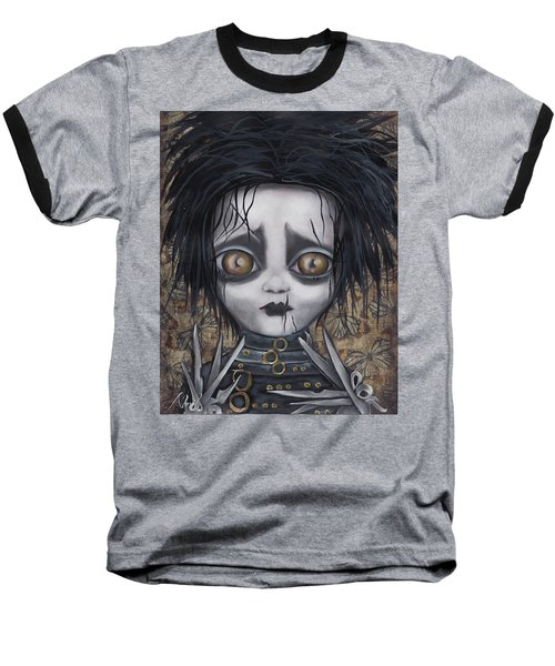 Edward Scissorhands Baseball T-Shirt by Abril Andrade Griffith