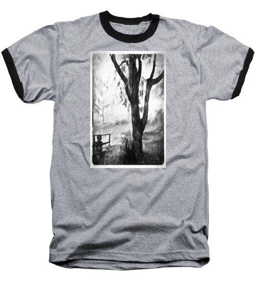 Tree In The Mist Baseball T-Shirt