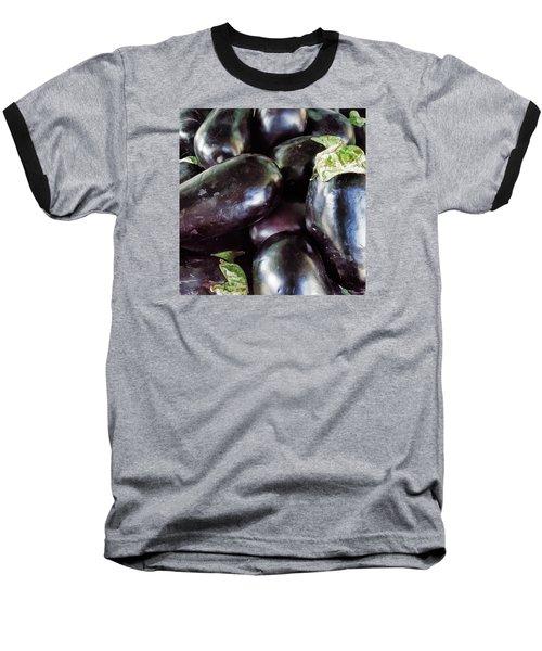 Eggplant Baseball T-Shirt by Lewis Mann