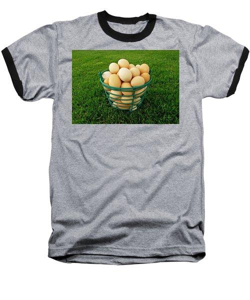 Eggs In A Basket Baseball T-Shirt