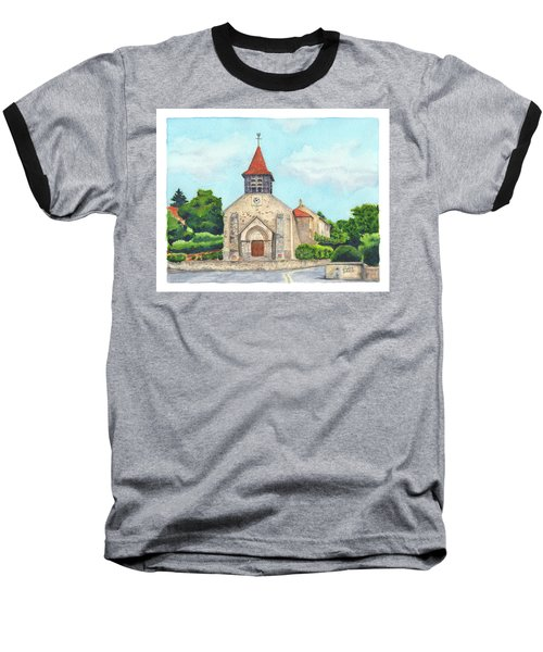 E'glise Paroissiale De Bouresches Baseball T-Shirt