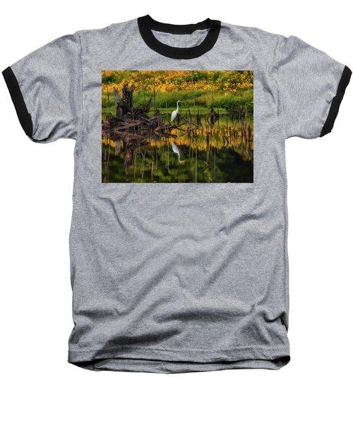Egret Art  Baseball T-Shirt