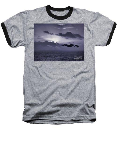 Pelican At Sunrise Baseball T-Shirt