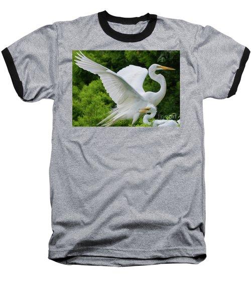 Egret Family Baseball T-Shirt