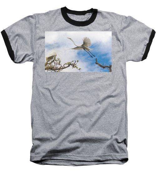 Egret Grace Baseball T-Shirt by Kelly Marquardt