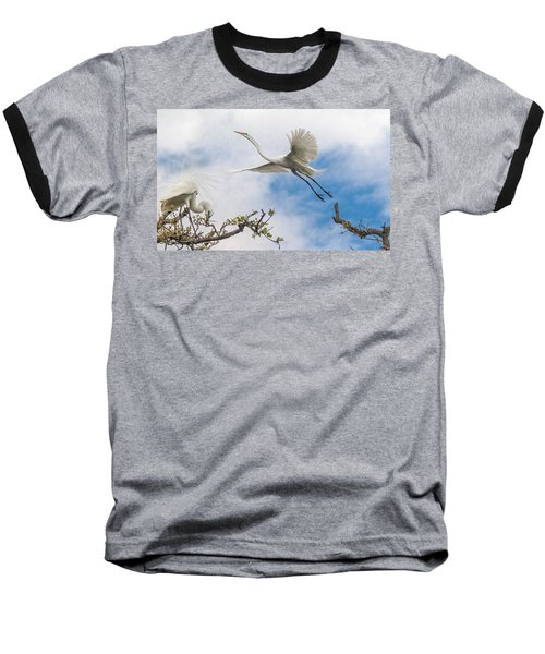 Egret Grace Baseball T-Shirt