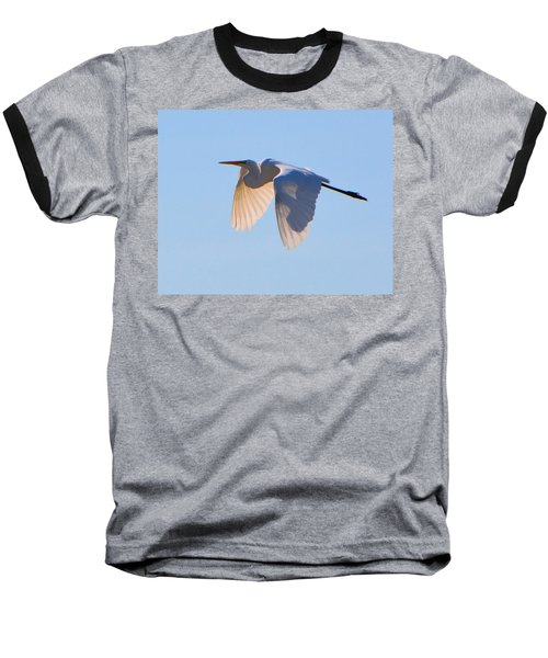 Egret In Silhouette Baseball T-Shirt