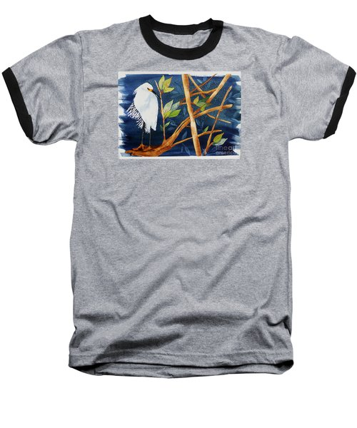Egret In The Mangroves  Baseball T-Shirt