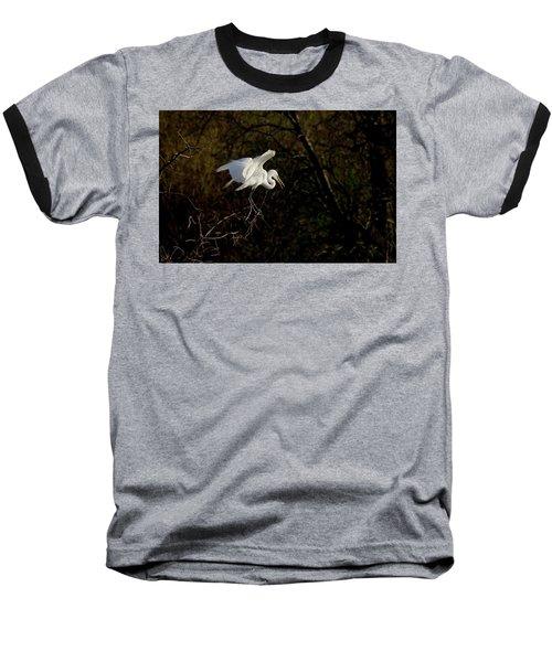 Egret Baseball T-Shirt by Kelly Marquardt