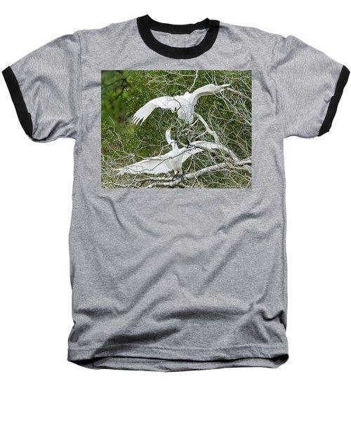 Egret Rumble Baseball T-Shirt by George Randy Bass