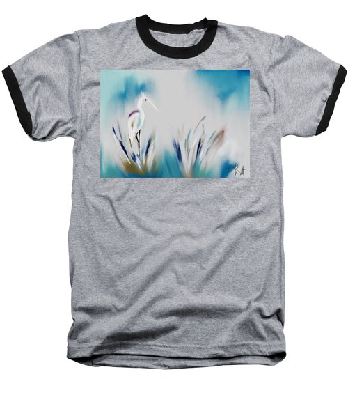 Egret Splash Baseball T-Shirt