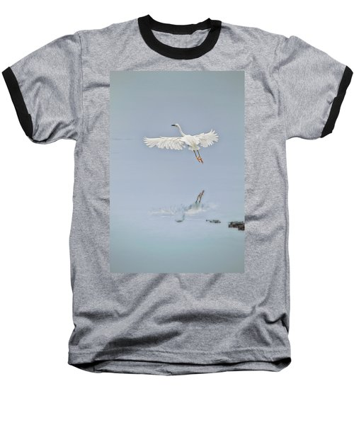 Egret Takes Flight Baseball T-Shirt