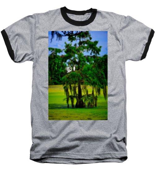 Egret Tree Baseball T-Shirt