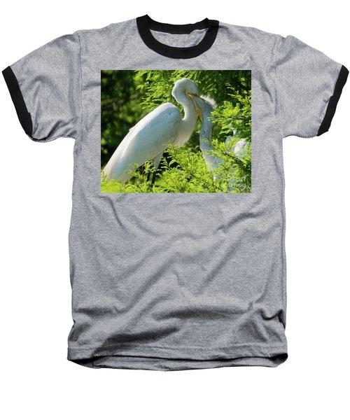 Egrets At Feeding Time Baseball T-Shirt