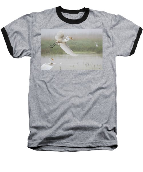 Egrets Fish Baseball T-Shirt