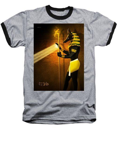 Egyptian God Anubis Baseball T-Shirt by John Wills