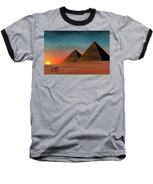 Egyptian Pyramids Baseball T-Shirt