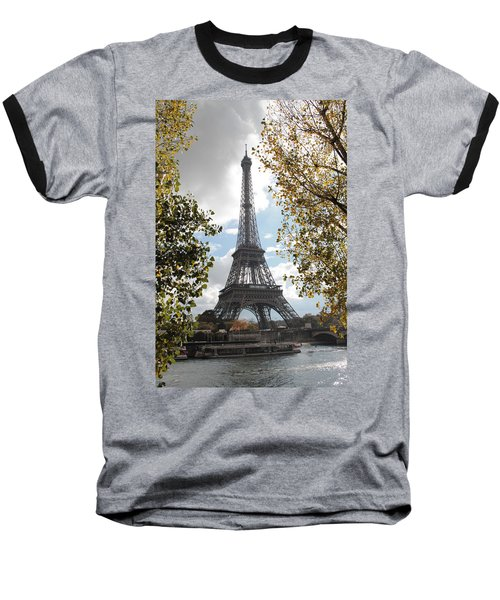 Baseball T-Shirt featuring the photograph Eiffel From Avenue De New York by Christopher Kirby