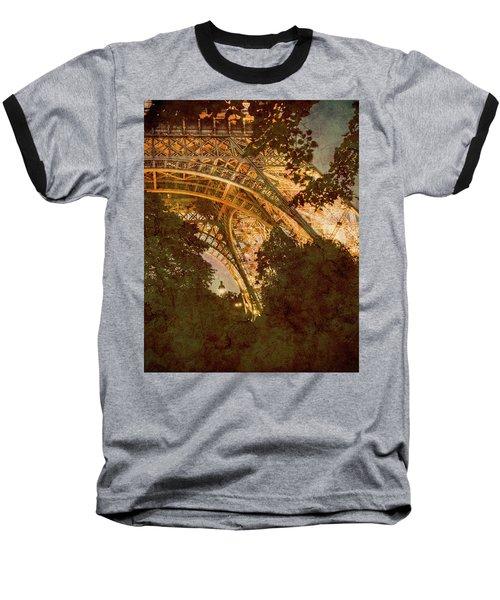 Paris, France - Eiffel Oldplate II Baseball T-Shirt