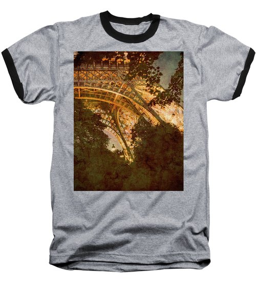Paris, France - Eiffel Oldplate II Baseball T-Shirt