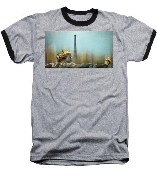 Eiffel Tower 1 Baseball T-Shirt by Marty Garland