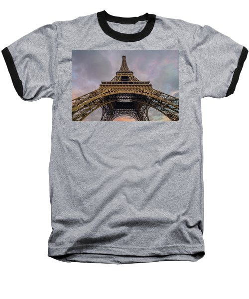 Eiffel Tower 5 Baseball T-Shirt