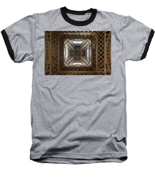 Eiffel Tower Abstract Baseball T-Shirt