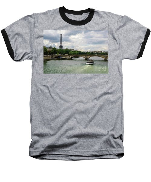 Eiffel Tower And The River Seine Baseball T-Shirt