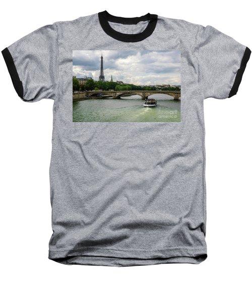 Eiffel Tower And The River Seine Baseball T-Shirt