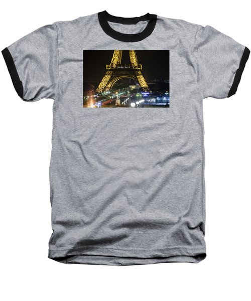 Baseball T-Shirt featuring the photograph Eiffel Tower by Andrew Soundarajan