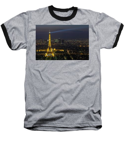 Eiffel Tower At Night Baseball T-Shirt