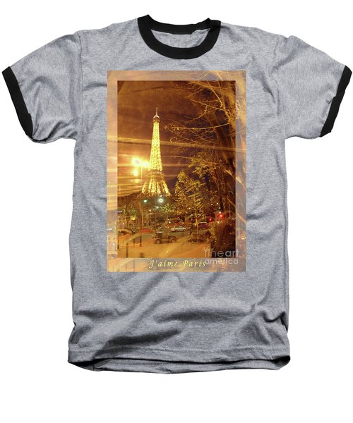 Eiffel Tower By Bus Tour Greeting Card Poster Baseball T-Shirt