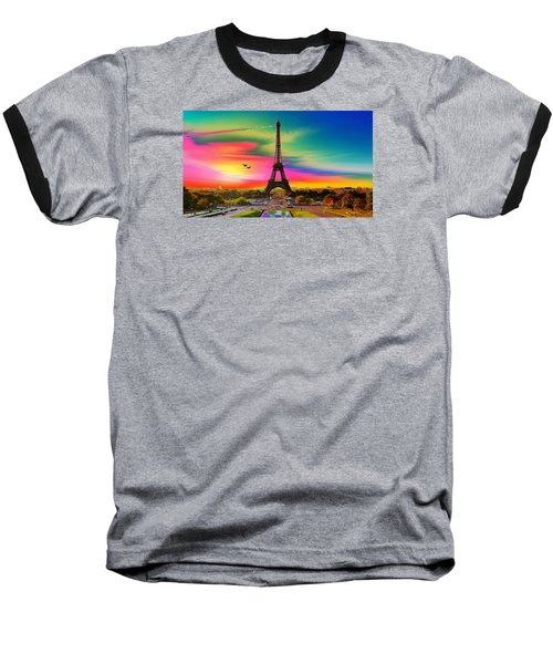 Eiffel Tower Baseball T-Shirt