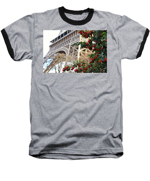 Eiffel Tower In Winter Baseball T-Shirt