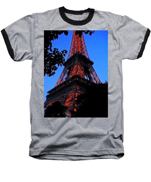 Eiffel Tower Baseball T-Shirt by Juergen Weiss