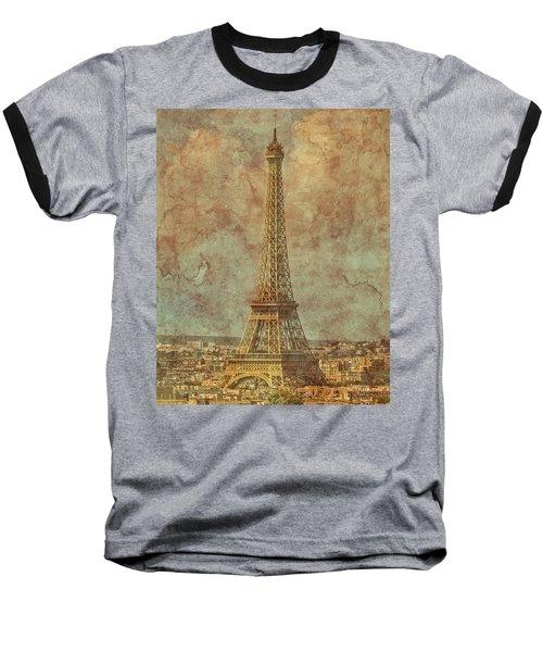 Paris, France - Eiffel Tower Baseball T-Shirt