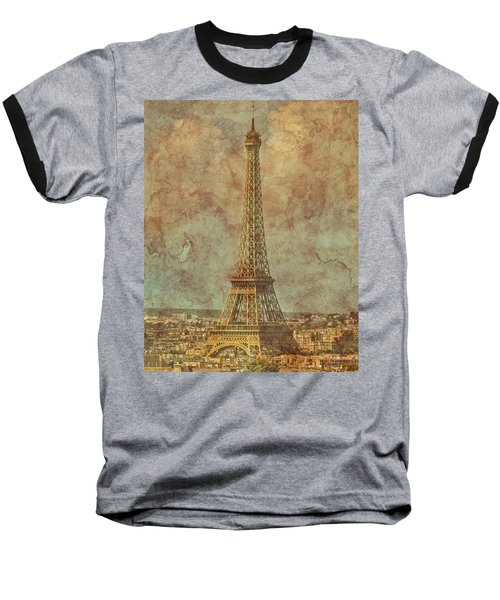 Paris, France - Eiffel Tower Baseball T-Shirt