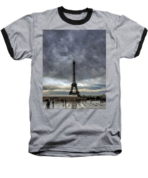 Baseball T-Shirt featuring the photograph Eiffel Tower Paris by Sally Ross