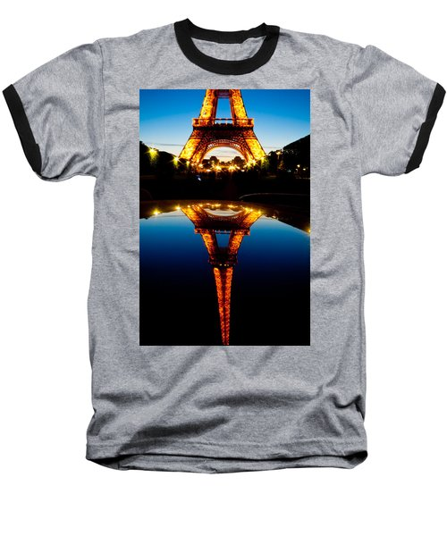 Eiffel Tower Reflection Baseball T-Shirt