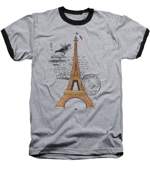Eiffel Tower T Shirt Design Baseball T-Shirt