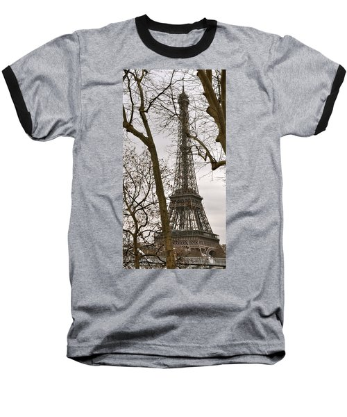 Eiffel Tower Through Branches Baseball T-Shirt