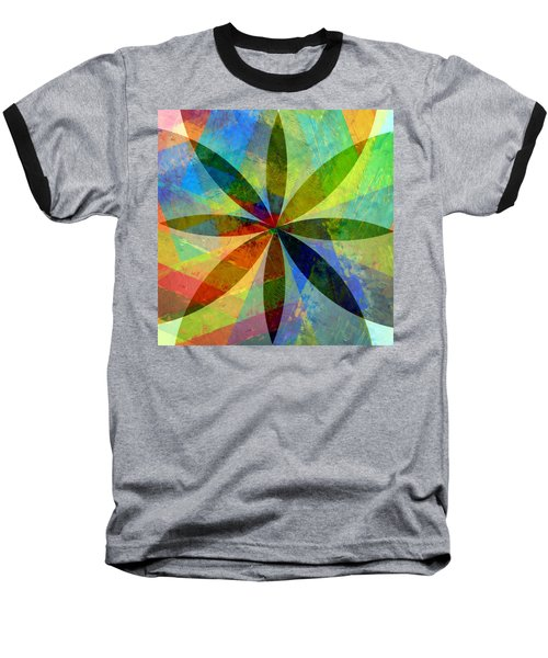 Baseball T-Shirt featuring the painting Eight Petals by Michelle Calkins