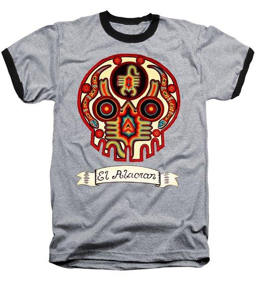 El Alacran - The Scorpion Baseball T-Shirt by Mix Luera