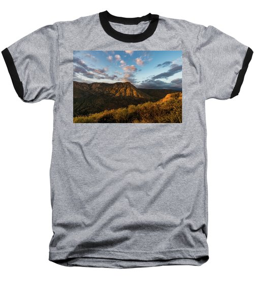 El Cajon Mountain Last Light Baseball T-Shirt
