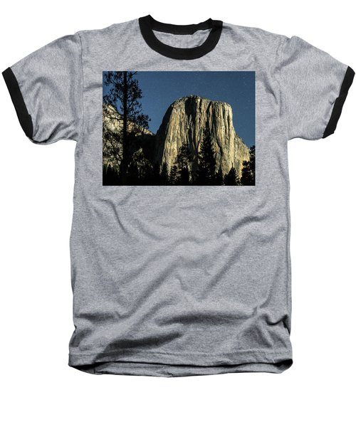 El Capitan By Starlight, Yosemite Valley, Yosemite Np, Ca Baseball T-Shirt