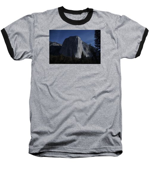 El Capitan In Moonlight Baseball T-Shirt by Michael Courtney