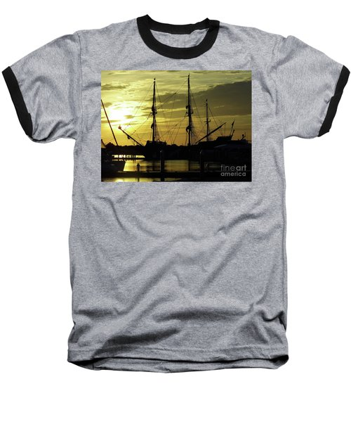 El Galeon Sunrise Baseball T-Shirt by D Hackett